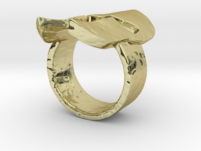 Spartan Helmet Ring in 18K Gold Plated