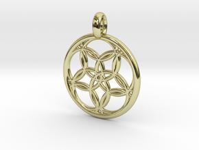 Hegemone pendant in 18K Gold Plated