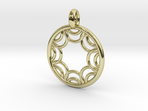 Euporie pendant in 18K Gold Plated