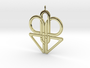 Knotted Pendant in 18K Gold Plated