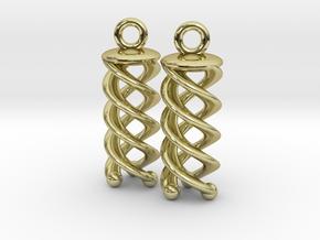 Triple Helix Earrings in 18K Gold Plated