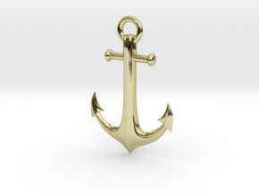Anchor Necklace in 18K Gold Plated