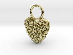 365 Hearts Charm  in 18K Gold Plated
