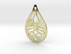 Tribal Pendant in Polished Silver