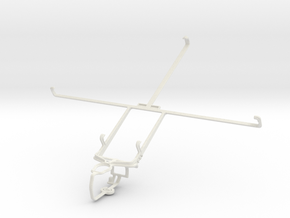 Controller mount for PS3 & Samsung Galaxy Tab 2 10 in White Natural Versatile Plastic