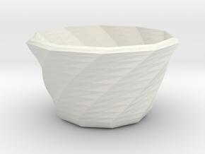 Twist-c in White Natural Versatile Plastic