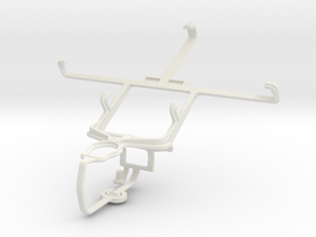Controller mount for PS3 & Samsung I9502 Galaxy S4 in White Natural Versatile Plastic