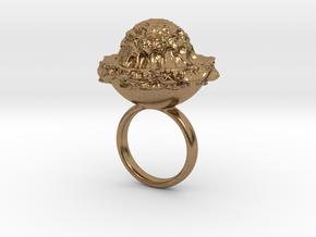 ZOPYROS Ring in Natural Brass