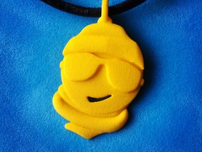 'Winter Sun' Yellow Plastic Winter Sun Pendant in Yellow Strong & Flexible Polished