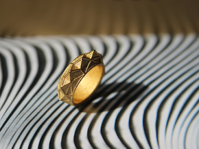 """""""Hearst Tower"""" Architecture fantasy Ring in 14k Gold Plated Brass"""