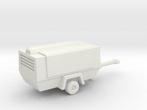 TT Scale Atlas Copco Mobile Compressor in White Natural Versatile Plastic