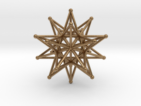 Stellated Icosahedron 40mm Sacred Geometry in Natural Brass
