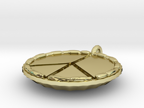 Make Pie Not War in 18K Gold Plated