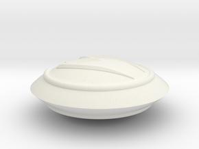 Large Mach 5 Keychain in White Natural Versatile Plastic