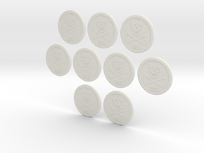 Bases: Jolly Rogers 3 Pack in White Natural Versatile Plastic