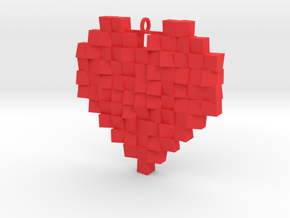 Faceted Heart in Red Strong & Flexible Polished