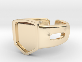 Signet Ring Blank 19mm in 14K Yellow Gold