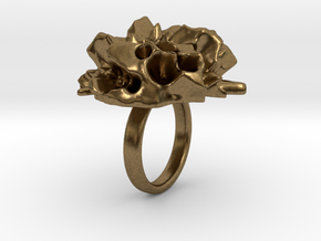 EUNICE Fractal Ring in Natural Bronze