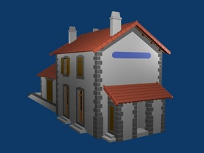 Gare CfD - Roof + Details ( Nm Gauge ) in Smooth Fine Detail Plastic
