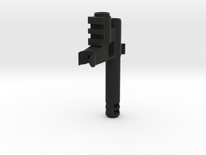 Carbine With Flash Hider2 Fixed in Black Natural Versatile Plastic