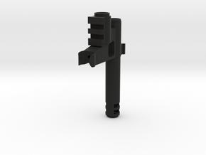 Carbine With Flash Hider2 Fixed in Black Natural Versatile Plastic