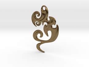 Abstract Pendant 'Waves and Fins'  in Natural Bronze