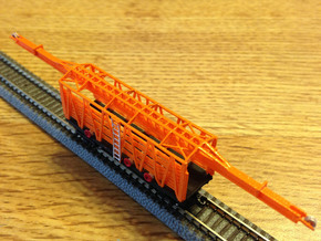 34 Ft MOW Rail Car Z Scale revised in Smooth Fine Detail Plastic