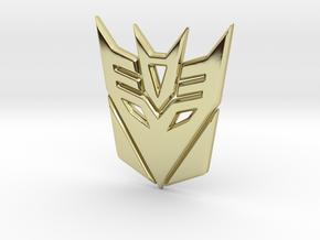 Decepticon Logo in 18K Gold Plated
