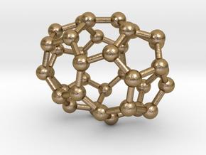 0030 Fullerene c36-02 d2 in Polished Gold Steel