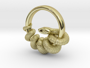 Reverse Snake Ring in 18K Gold Plated