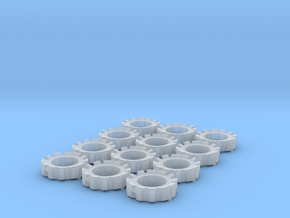 1/64 Wheel Weights Outer (12 Pieces) in Smooth Fine Detail Plastic