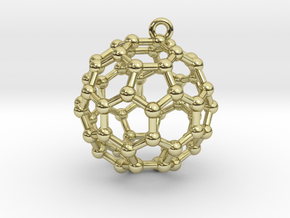 BuckyBall C60 Earring, Silver, 1.7cm in 18K Gold Plated