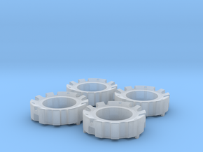 1/64 Wheel Weights Outer (4 Pieces) in Smooth Fine Detail Plastic