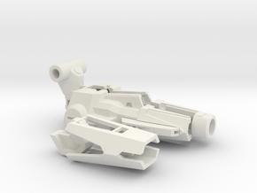 Sledgehammer Cannon in White Natural Versatile Plastic