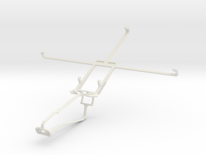 Controller mount for Xbox One Chat & Sony Xperia Z in White Natural Versatile Plastic