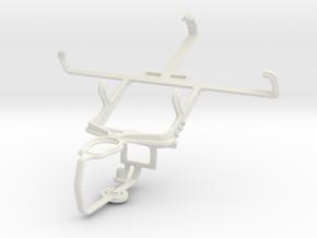 Controller mount for PS3 & Spice Mi-422 Smartflo P in White Natural Versatile Plastic