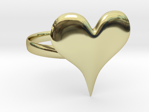 Liquid Metal Heart Ring in 18K Gold Plated