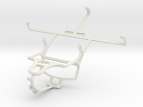 Controller mount for PS4 & Spice Mi-535 Stellar Pi in White Natural Versatile Plastic