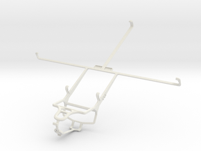 Controller mount for PS4 & Toshiba Excite Pure in White Natural Versatile Plastic