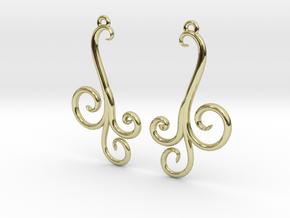 Wind Curls Earrings in 18K Gold Plated