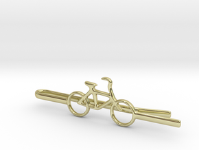 Bicycle tie clip in 18K Gold Plated