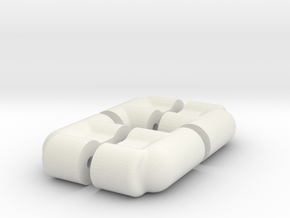 2 PAIR - RC10 B4 SERVO MOUNT in White Natural Versatile Plastic