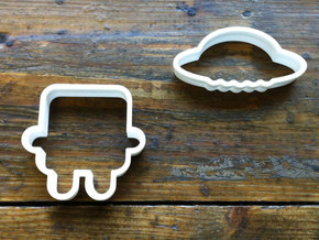 robot cookie cutters in White Processed Versatile Plastic