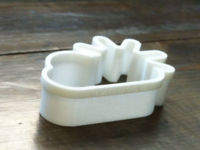 Sunny Clouds cookie cutters in White Processed Versatile Plastic