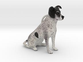 Custom Dog Ornament - Beagan in Full Color Sandstone