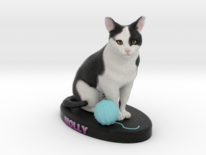 Custom Cat Figurine - Molly in Full Color Sandstone