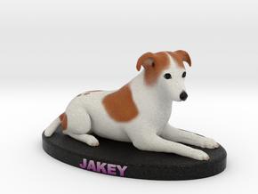 Custom Dog Figurine - Jake in Full Color Sandstone