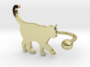 [Ring]Kitty play with a Ball (size 8) in 18K Gold Plated