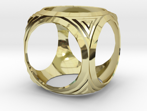 Shell from a sphere in 18K Gold Plated