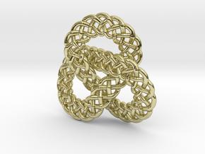 Celtic Knot Trefoil Pendant in 18K Gold Plated